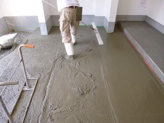 コンクリートの流し込み2