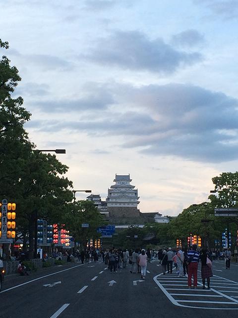 姫路城3Dプロジェクションマッピング1