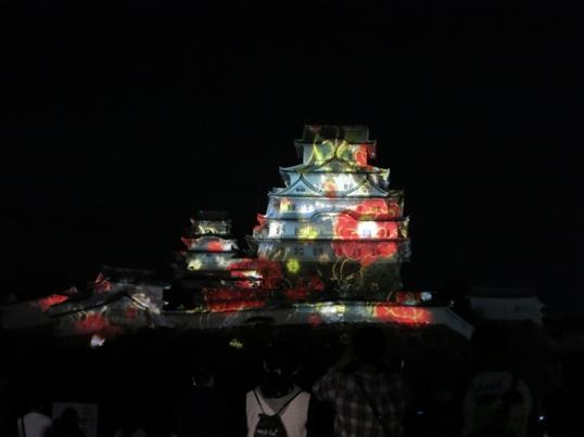 姫路城3Dプロジェクションマッピング3