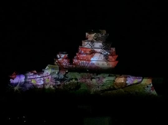 姫路城3Dプロジェクションマッピング8