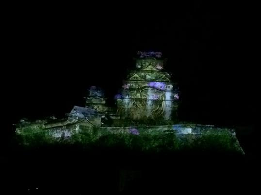 姫路城3Dプロジェクションマッピング9
