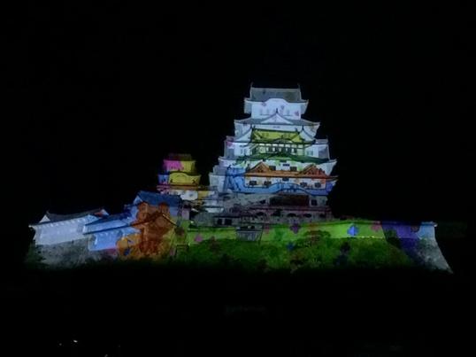 姫路城3Dプロジェクションマッピング10
