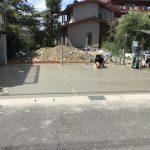 駐車場の土間コンクリート打設1